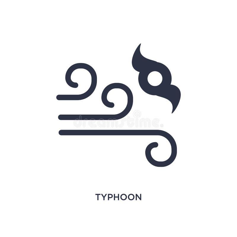 tajfun ikona na białym tle Prosta element ilustracja od Pogodowego pojęcia royalty ilustracja