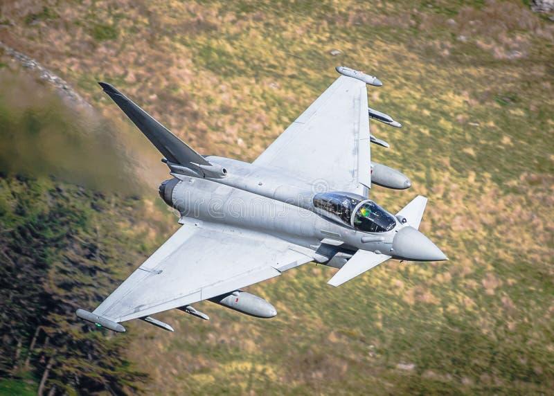 Tajfunu Eurofighter bojowy samolot fotografia stock