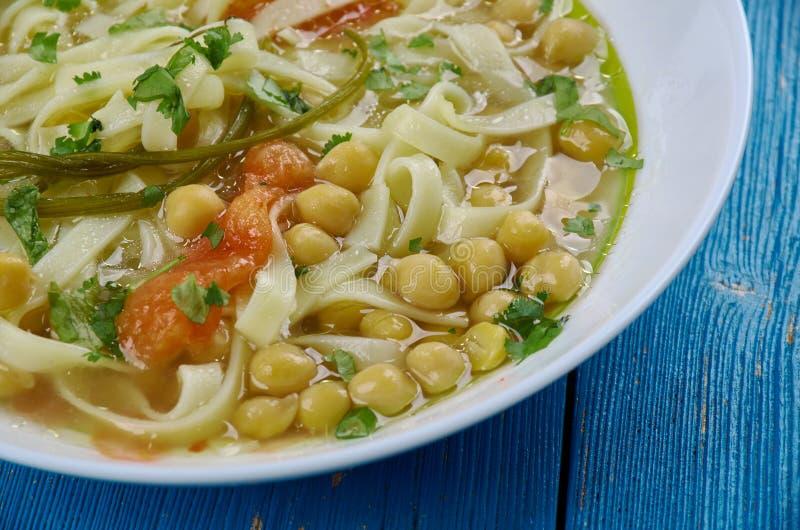 Tajik soup oshi burida stock photo