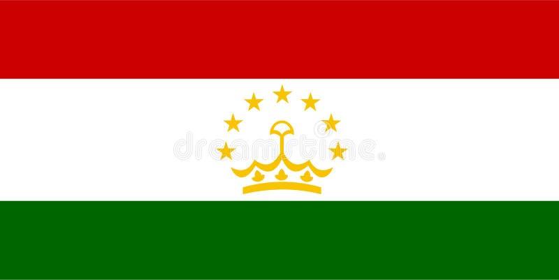 tajikistan flaggavektor Illustration av den Tadzjikistan flaggan vektor illustrationer