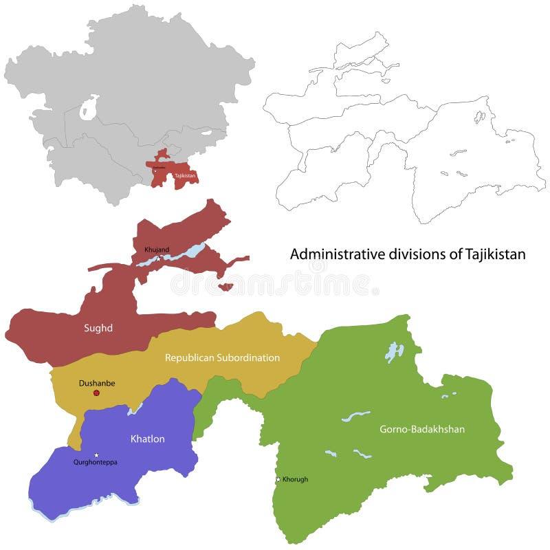 Tajikistan mapa ilustracja wektor