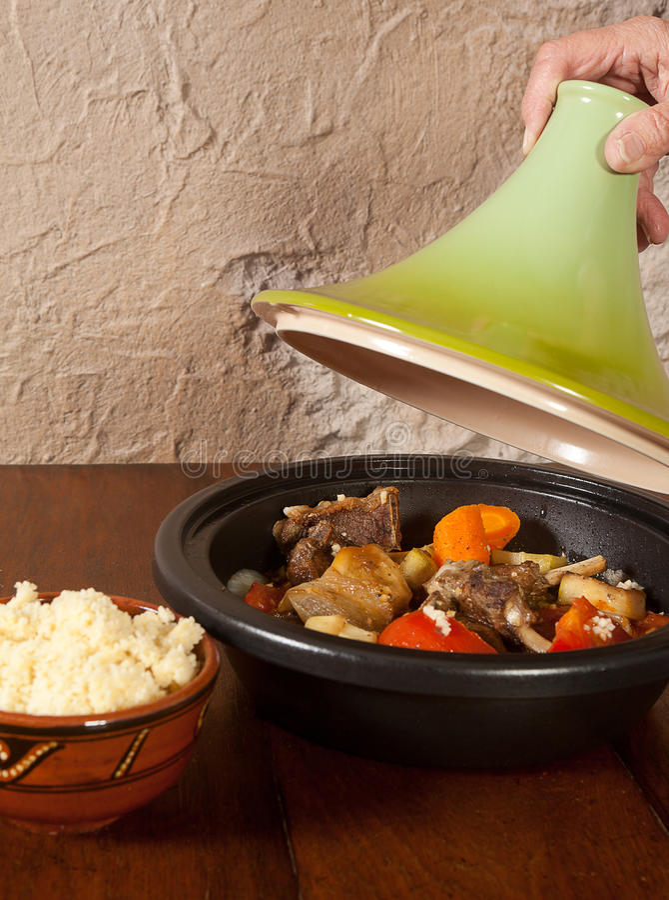Tajine moroccan dish stock images