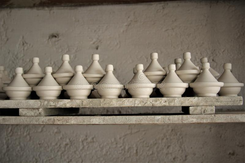 Tajine tradycyjny marokański kulinarny kitchenware fotografia stock