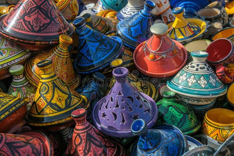 Tajines στην αγορά, Μαρόκο στοκ φωτογραφίες με δικαίωμα ελεύθερης χρήσης
