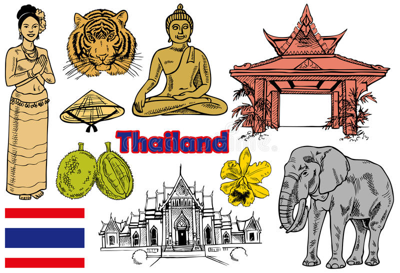Tajlandia ilustracja wektor