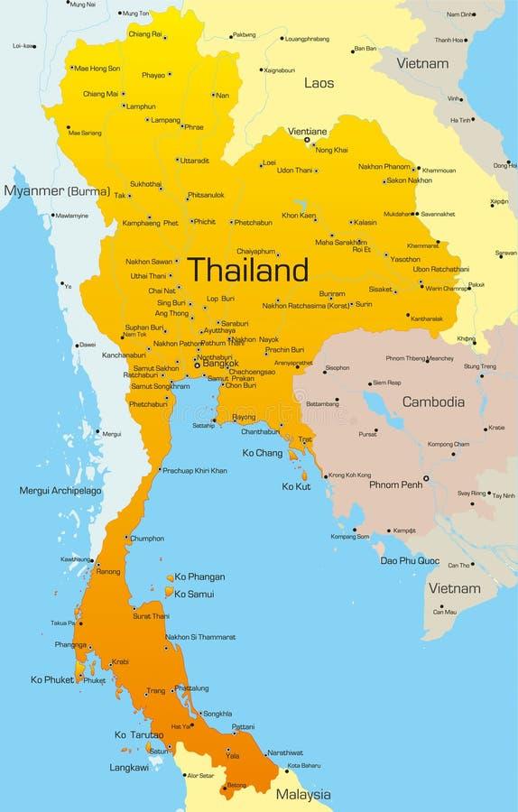 Tajlandia royalty ilustracja