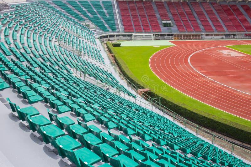 Tajlandia Bangkok sporta stadium Krajowy siedzenie z częścią runnig ślad obrazy royalty free