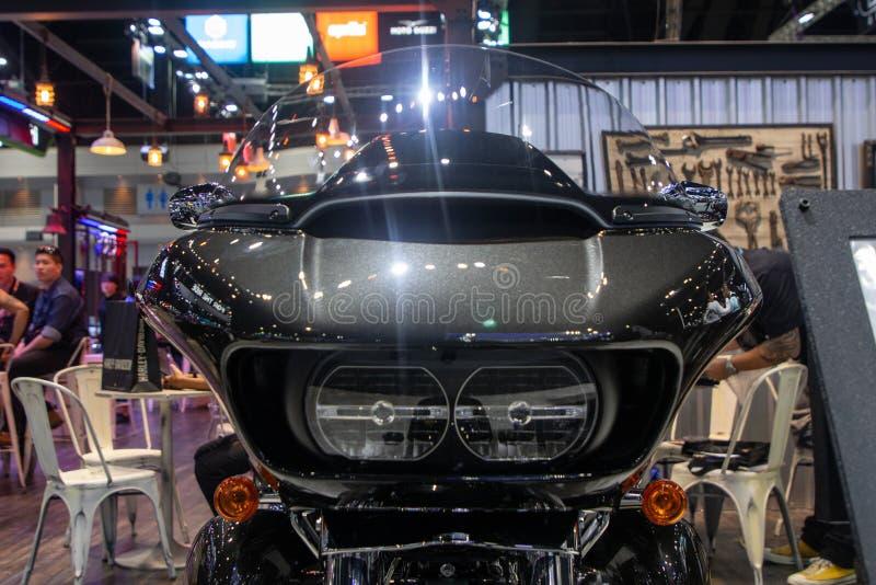 Tajlandia, Dec -, 2018: zakończenie w górę - frontowy widok Harley Davidson FLTRU Drogowy sunięcie Ultra 2019 motocykli/lów pokaz zdjęcie royalty free
