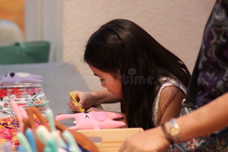 Tajlandia dziewczyny lala handmade fotografia stock