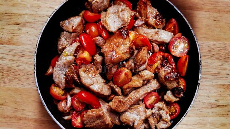 Tajlandia, Dzwonkowy pieprz, Chili Con Carne, kucharstwo, Kulinarna niecka fotografia royalty free
