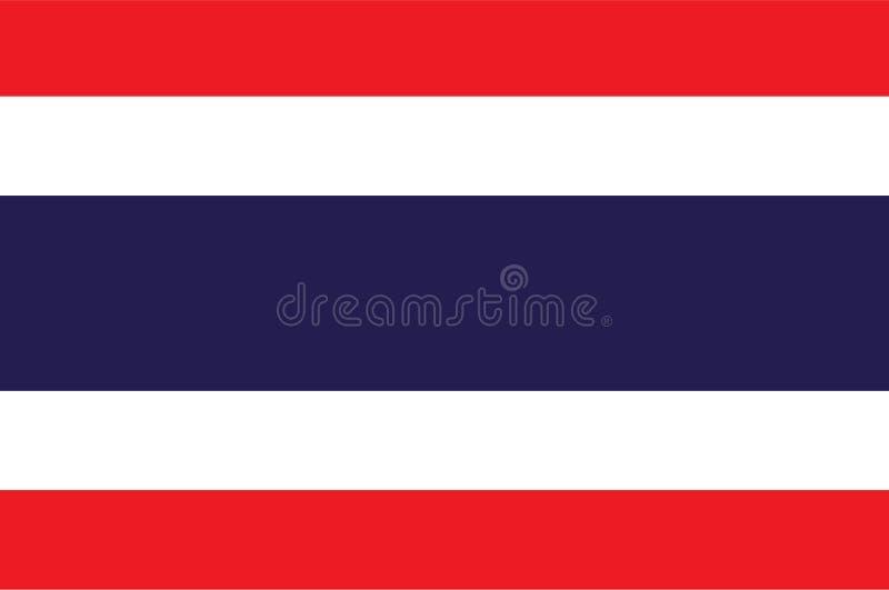 Tajlandia flaga wektor Ilustracja Tajlandia flaga obraz stock
