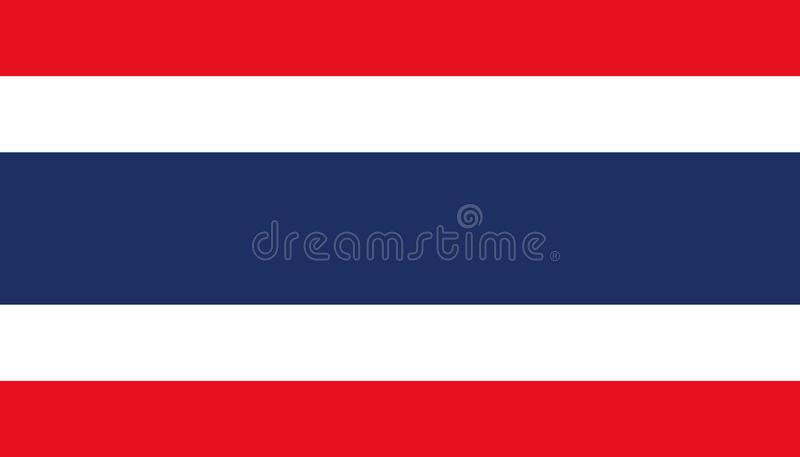 Tajlandia flagi ikona w mieszkanie stylu Obywatel szyldowa wektorowa ilustracja Spo?ecze?stwo biznesowy poj?cie ilustracja wektor