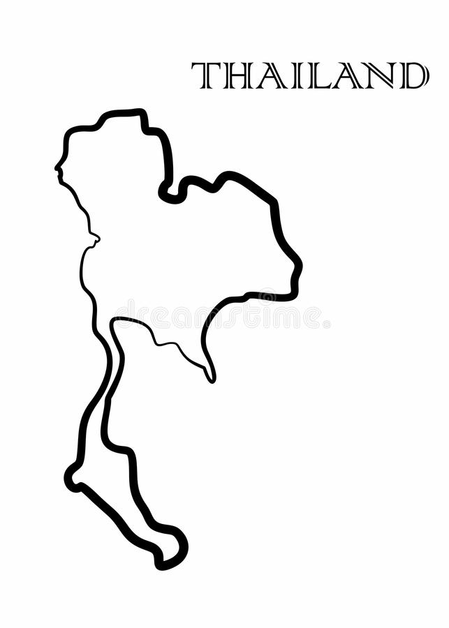 Tajlandia mapa ilustracja wektor