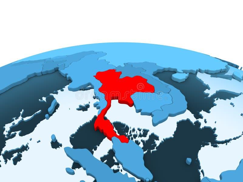 Tajlandia na błękitnej politycznej kuli ziemskiej royalty ilustracja