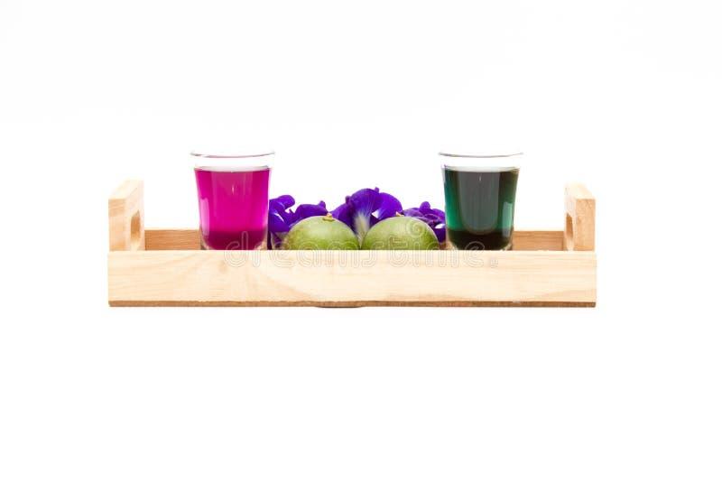 Tajlandia napoju Chan świeży zdrowy ziołowy sok z cytryną zdjęcia stock