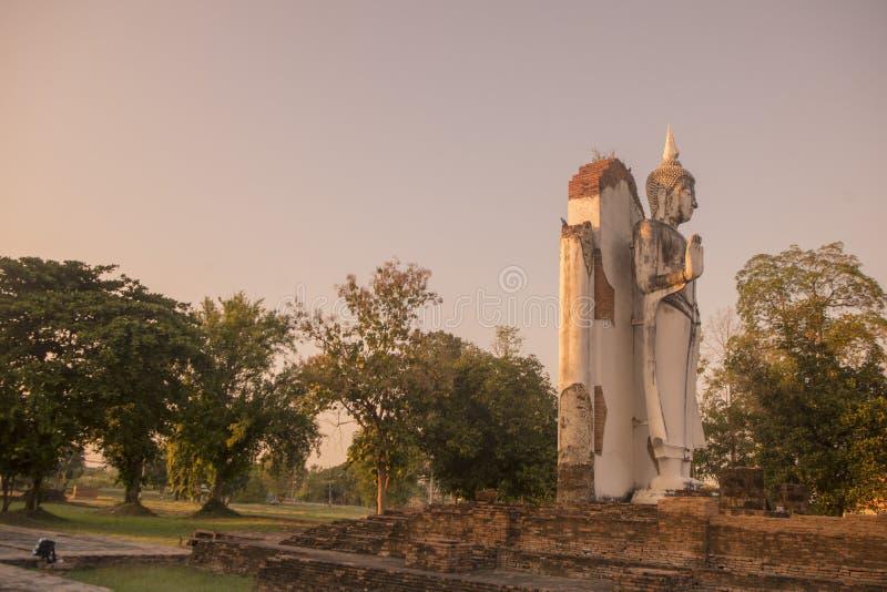 TAJLANDIA PHITSANULOK CHANDRA pałac ruiny obraz stock