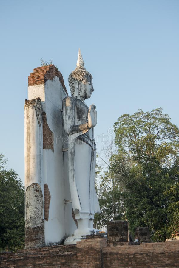 TAJLANDIA PHITSANULOK CHANDRA pałac ruiny fotografia stock