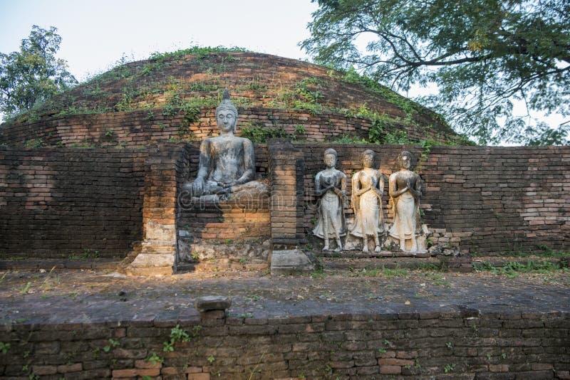 TAJLANDIA PHITSANULOK CHANDRA pałac ruiny fotografia royalty free