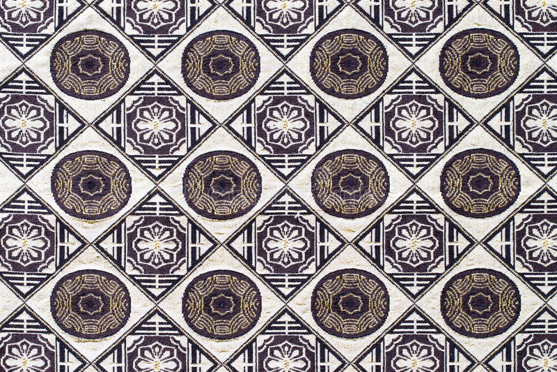Tajlandia projektuje dywanik powierzchni zakończenie w górę rocznik tkaniny zdjęcie stock