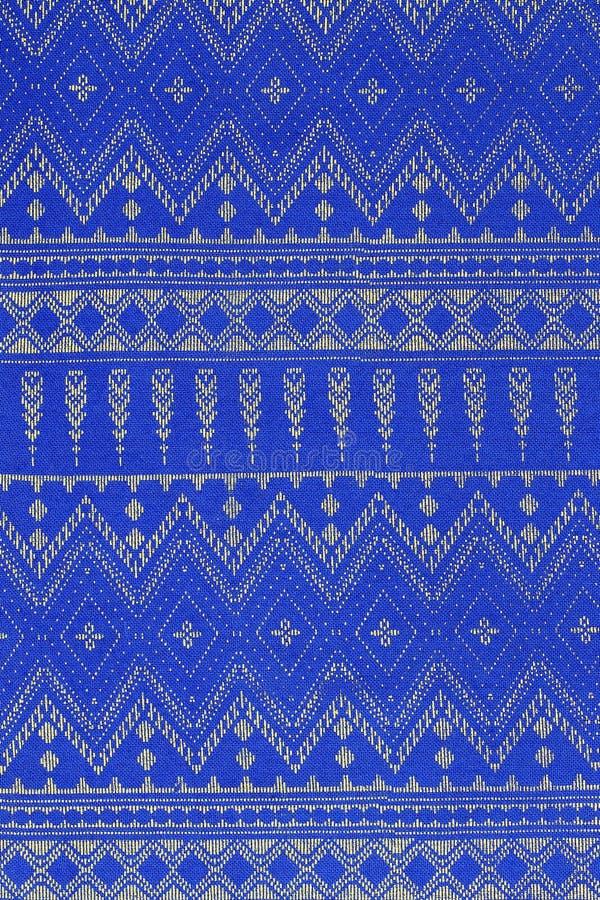 Tajlandia projektuje dywanik powierzchni zakończenie w górę rocznik tkaniny zrobi brzęczenia zdjęcie royalty free