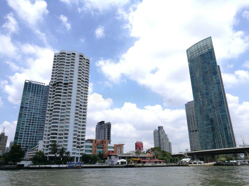 Tajlandia rzeczny frontowy widok fotografia stock