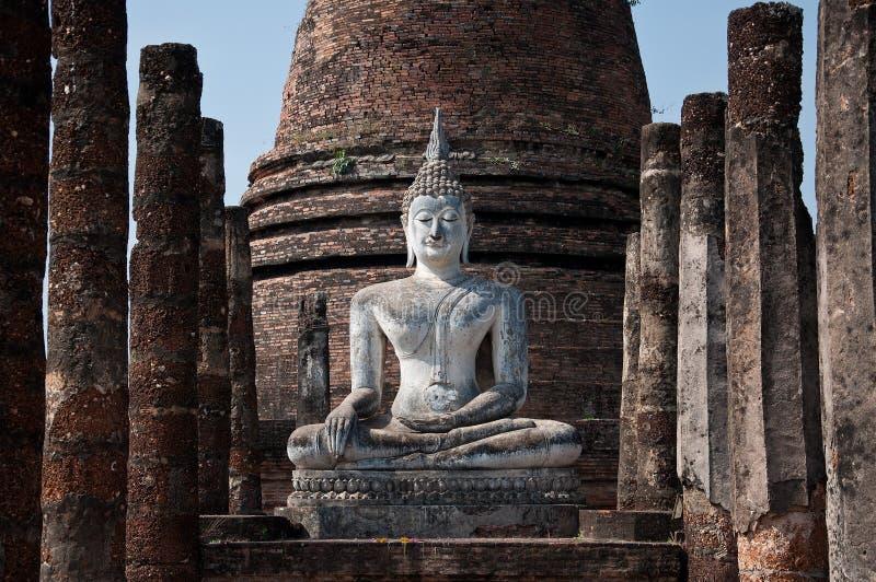 Tajlandia Sukhothai Buddha świątynia dezerterująca obraz royalty free