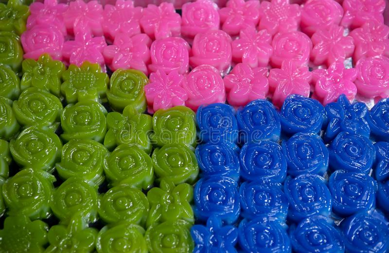Tajlandia, tort, Gelatin deser, Ablegrujący, Słodki jedzenie, zdjęcie stock