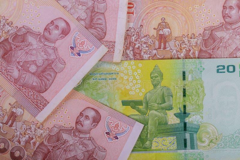 Tajlandzcy banknoty cenili Nowego projekta królewiątko Tajlandia tajlandzki pieniądze fotografia stock