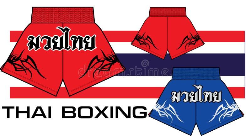 Tajlandzcy boks skróty royalty ilustracja