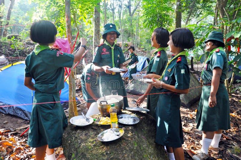 Tajlandzcy harcerstwa zdjęcia stock