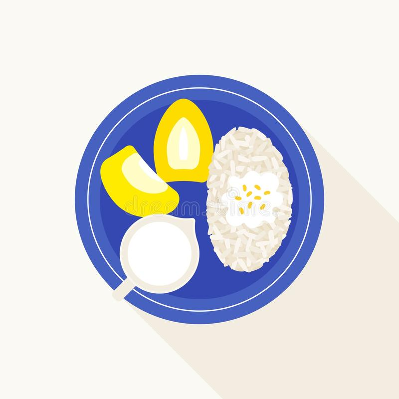 Tajlandzcy Klei?ci ry? z durian, Khao Niaow Tu rian royalty ilustracja