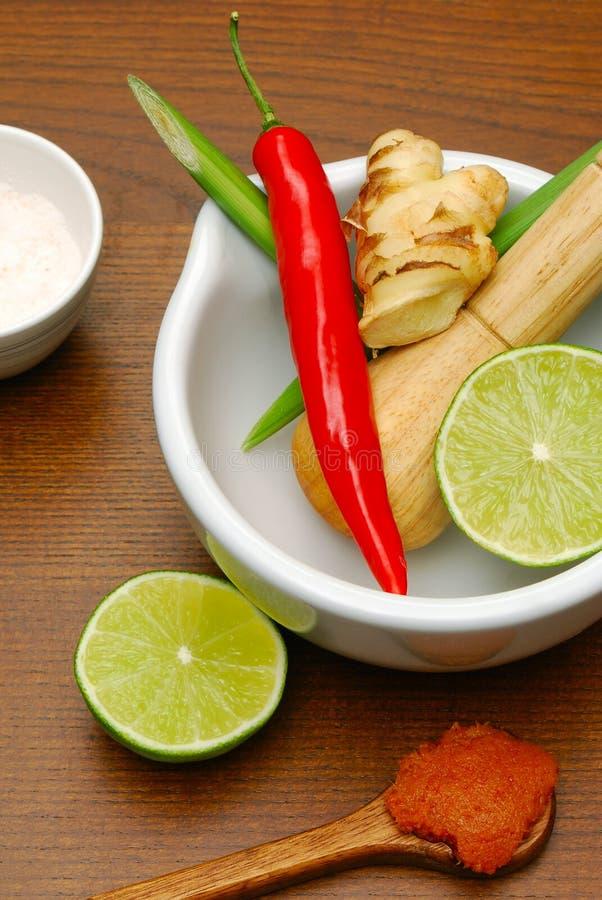 tajlandzcy kulinarni składniki fotografia stock