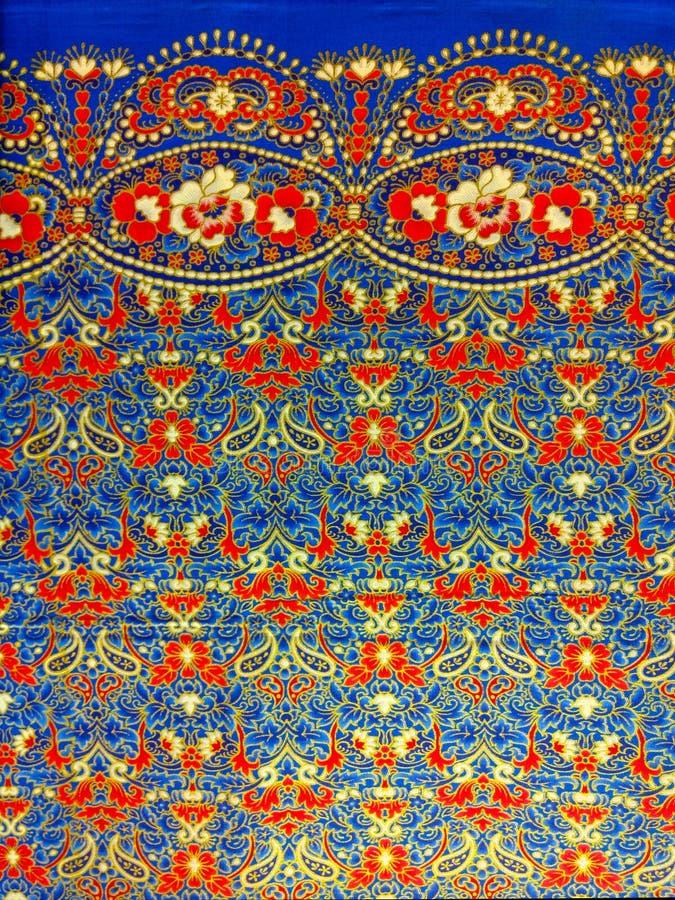 Tajlandzka jedwabnicza tkanina zdjęcia stock