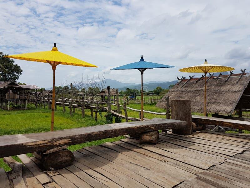 Tajlandzka Lue kawiarnia zdjęcie stock