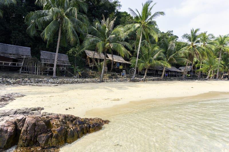 Tajlandzka piękna plaża i nadmorski obraz stock