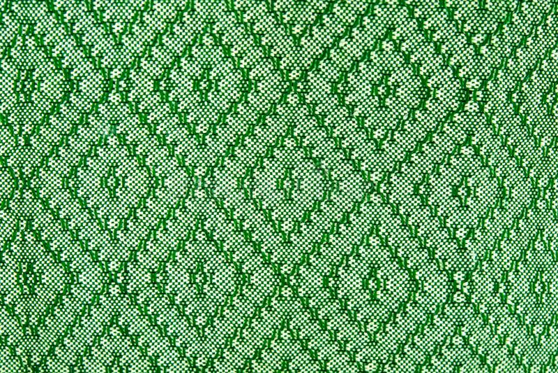 Tajlandzka Siam tkaniny jedwabiu zieleni wzoru tekstura obrazy stock