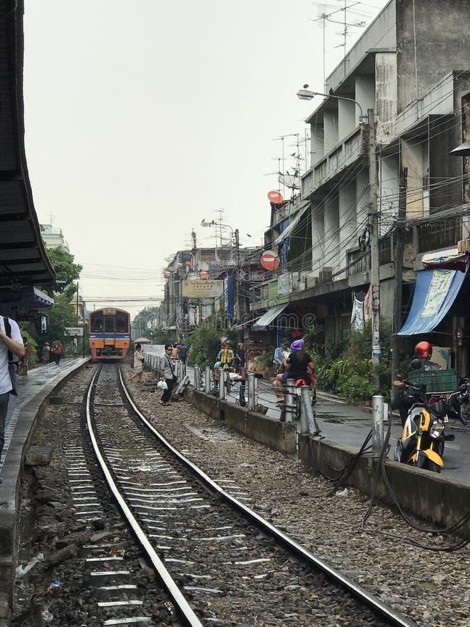 Tajlandzka Sztachetowa droga zdjęcie stock