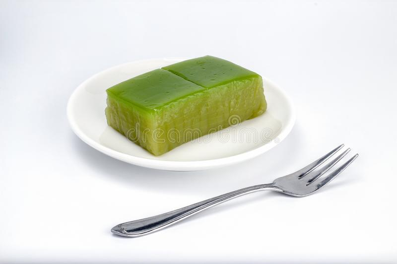 Tajlandzka tradycja jest Kanom Chan deserowi warstwa cukierki zasychają, Tajlandzki Słodki wielo- warstwa cukierki torta imię fotografia stock