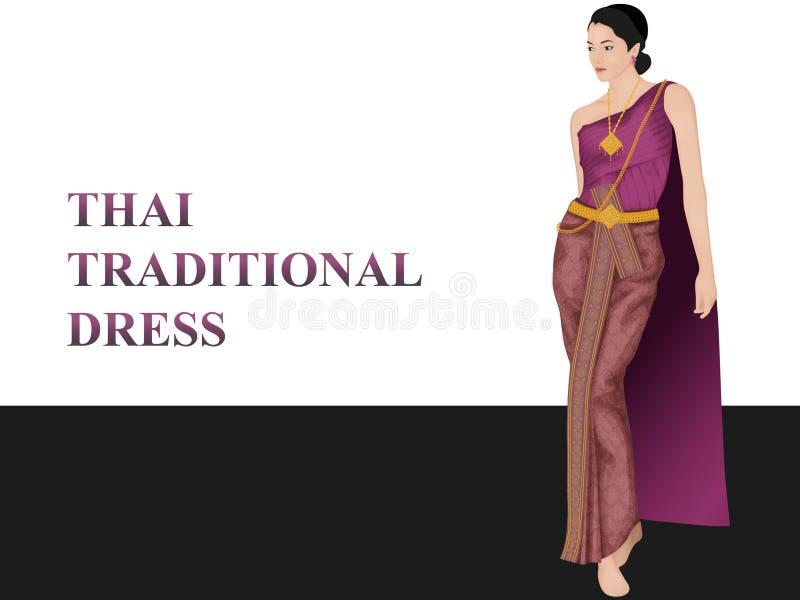 Tajlandzka tradycyjna odzież obraz stock