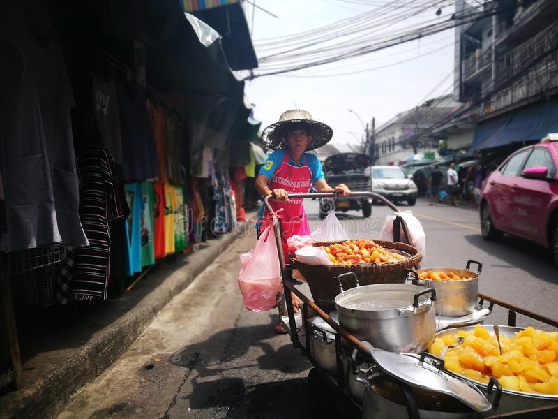 Tajlandzka uliczna fotografia obrazy royalty free