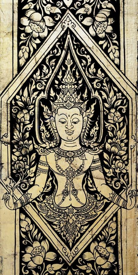 Tajlandzka złocistego liścia sztuka zdjęcia royalty free