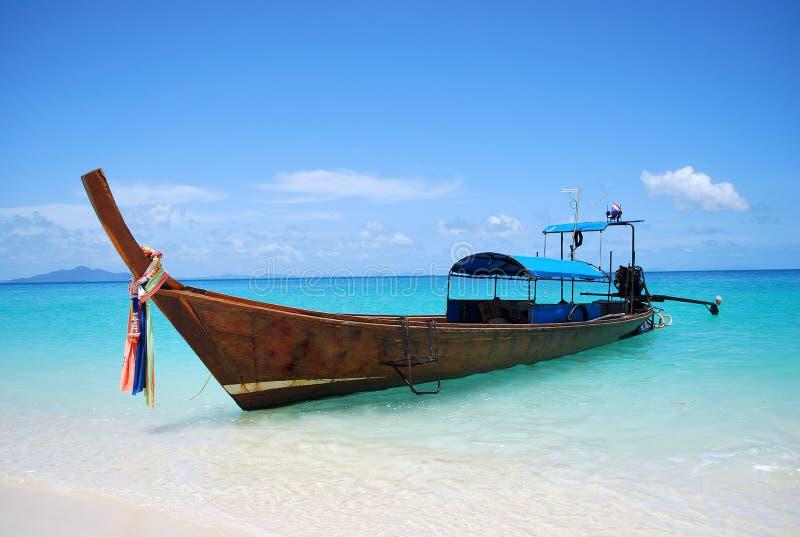 tajlandzki łódkowaty longtail zdjęcie stock