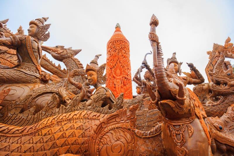 Tajlandzki świeczka festiwal Buddha zdjęcia royalty free