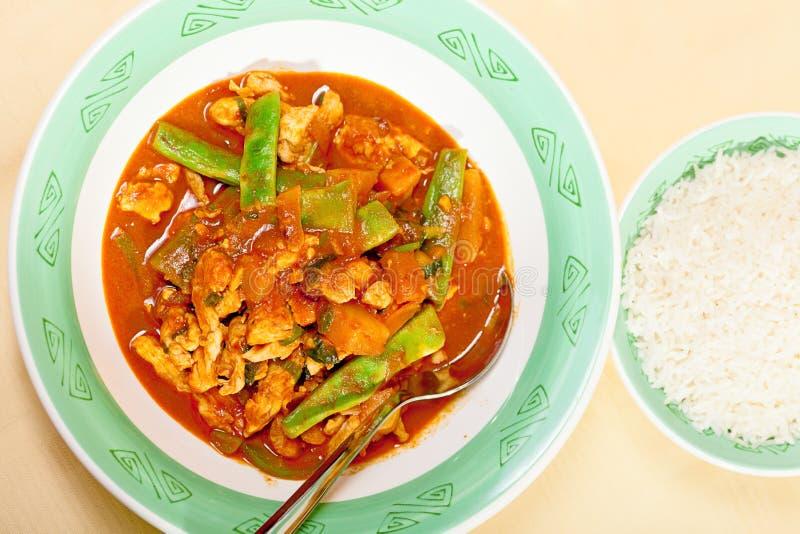 Tajlandzki czerwony curry fotografia stock