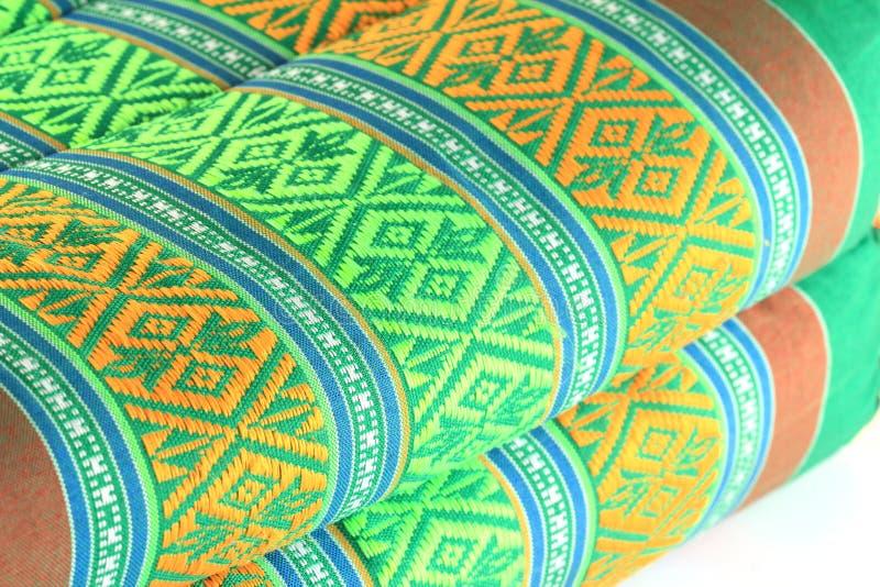 Tajlandzki deseniowy sztuka styl na bawełnianej poduszce obraz stock