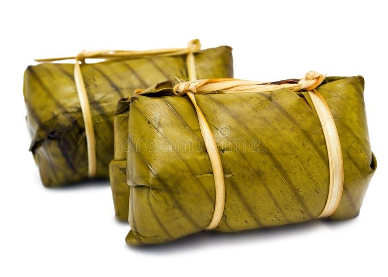 Tajlandzki deser nazwany Khao Tom Szalenie fotografia royalty free
