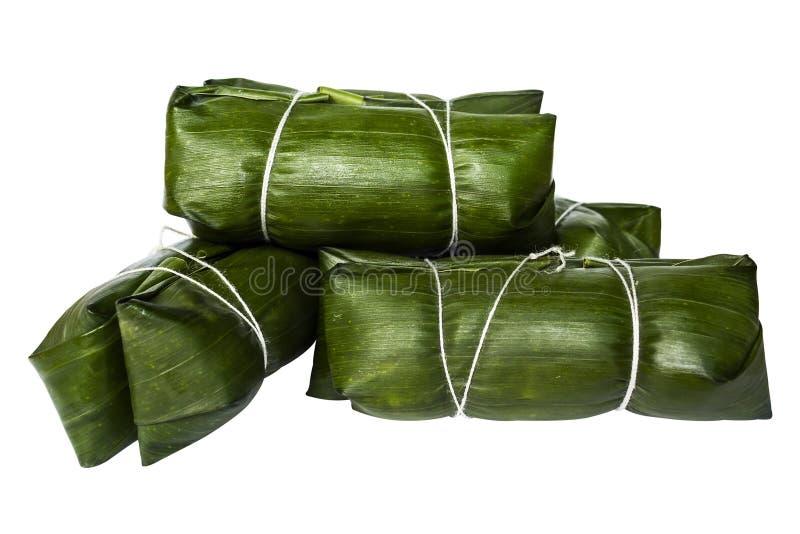 Tajlandzki deserowy Khao Tom Szalenie przed kucharzem zdjęcie stock