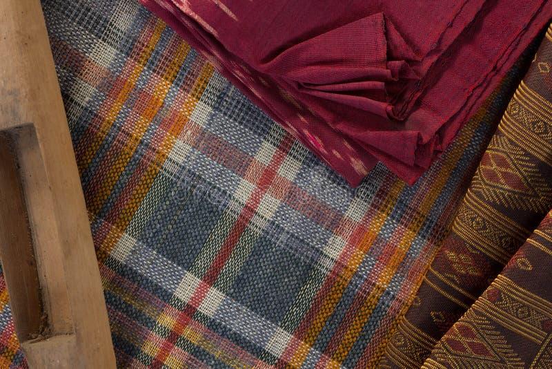 Tajlandzki jedwabiu wzór, Tajlandia tkaniny styl zdjęcie royalty free