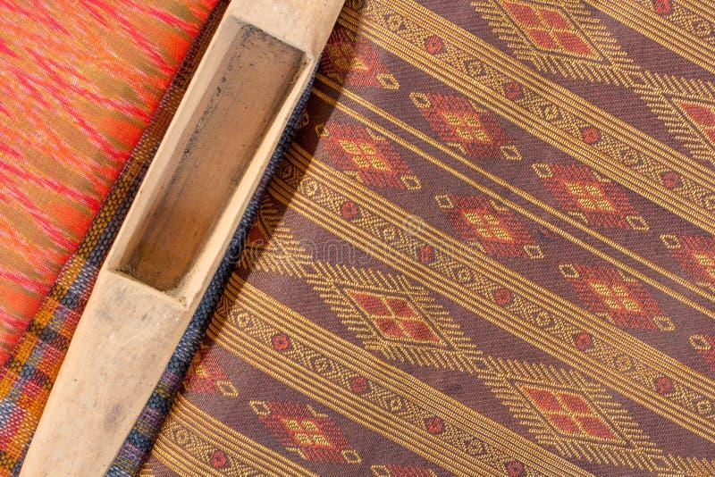 Tajlandzki jedwabiu wzór, Tajlandia tkaniny styl obraz stock