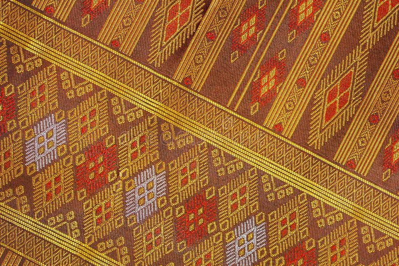 Tajlandzki jedwabiu wzór, Tajlandia tkaniny styl fotografia royalty free